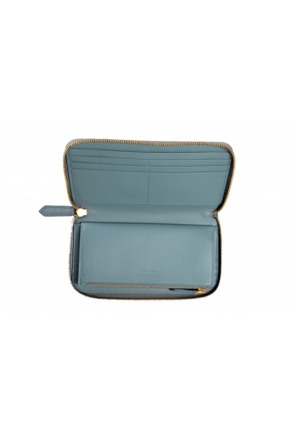 Burberry Women's Dusty Teal Blue Textured Leather Wallet: Picture 3