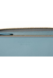 Burberry Women's Dusty Teal Blue Textured Leather Wallet: Picture 4