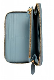 Burberry Women's Dusty Teal Blue Textured Leather Wallet: Picture 5