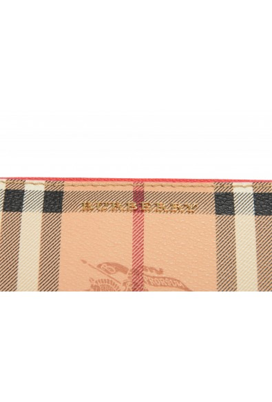 """Burberry Women's """"Porter"""" Checkered Textured Leather Zip Around Wallet: Picture 2"""