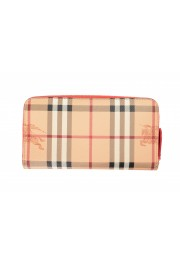 """Burberry Women's """"Porter"""" Checkered Textured Leather Zip Around Wallet: Picture 3"""