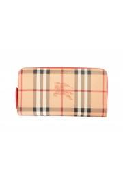 "Burberry Women's ""Porter"" Checkered Textured Leather Zip Around Wallet"