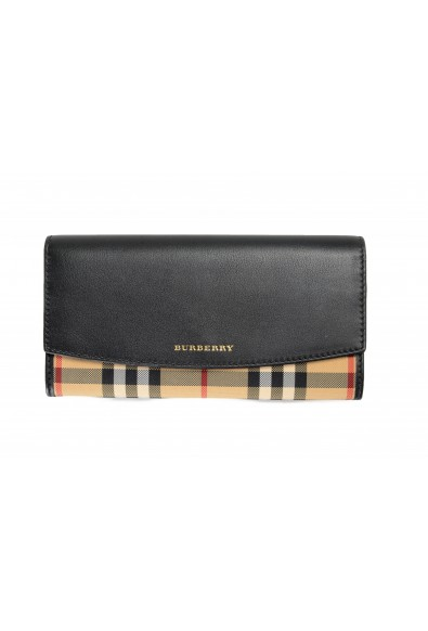 """Burberry Women's """"PORTER HNC"""" Multi-Color Checkered Leather Wallet"""
