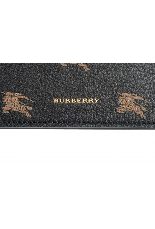 Burberry Unisex Black Logo Print Leather Credit Card Wallet: Picture 2