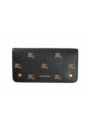 Burberry Unisex Black Logo Print Leather Credit Card Wallet