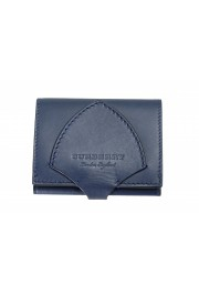 """Burberry Unisex """"HARLOW"""" Blue Leather Bifold Wallet"""