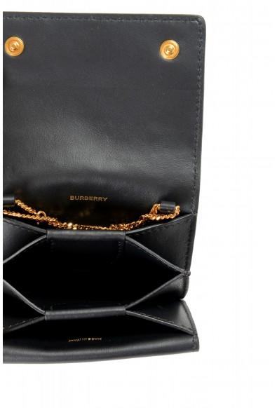 Burberry Women's Black Logo TExtured Leather Clutch Wallet Shoulder Bag: Picture 2
