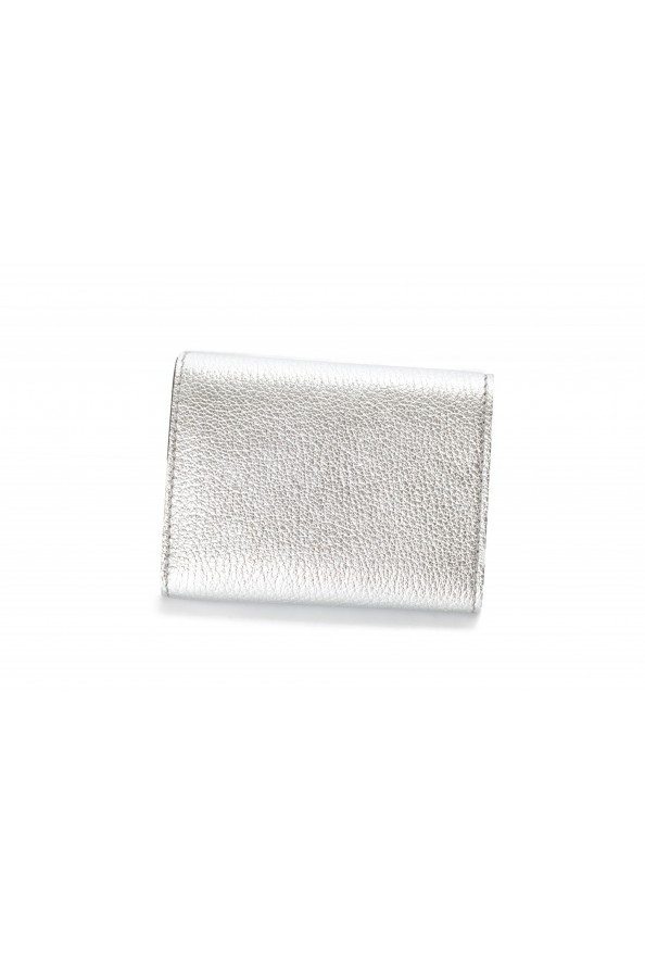 Burberry Women's Silver Textured Leather Bifold Wallet: Picture 2