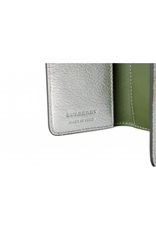 Burberry Women's Silver Textured Leather Bifold Wallet: Picture 4