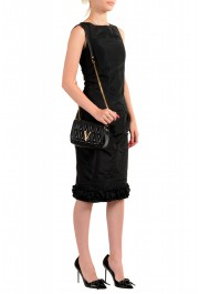 Versace Women's Black Virtus Quilted Leather Evening Bag: Picture 3
