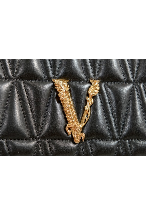 Versace Women's Black Virtus Quilted Leather Evening Bag: Picture 4