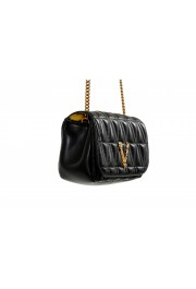 Versace Women's Black Virtus Quilted Leather Evening Bag: Picture 5