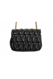 Versace Women's Black Virtus Quilted Leather Evening Bag: Picture 6