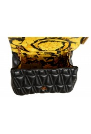 Versace Women's Black Virtus Quilted Leather Evening Bag: Picture 7