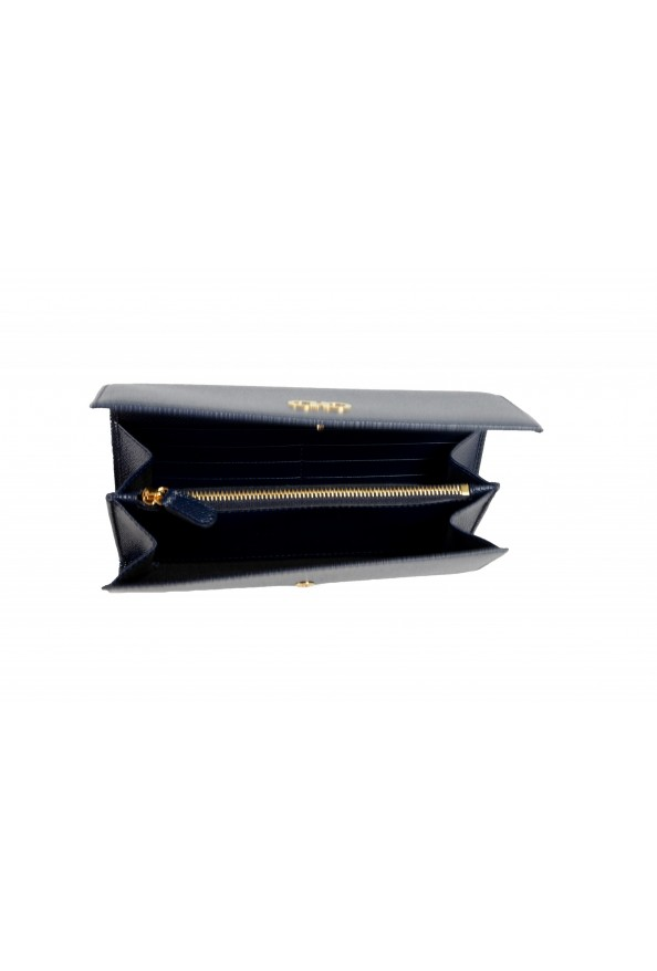 Salvatore Ferragamo Women's Blue 100% Textured Leather Wallet: Picture 3