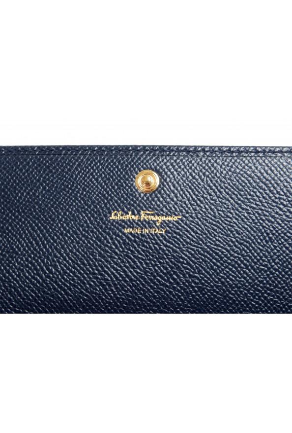 Salvatore Ferragamo Women's Blue 100% Textured Leather Wallet: Picture 4