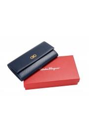 Salvatore Ferragamo Women's Blue 100% Textured Leather Wallet: Picture 5