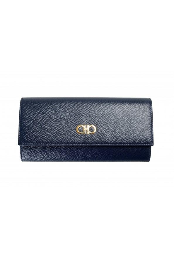 Salvatore Ferragamo Women's Blue 100% Textured Leather Wallet