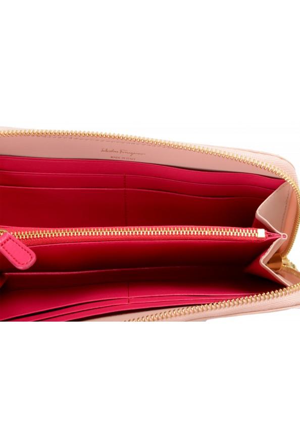 Salvatore Ferragamo Women's Dusty Pink 100% Leather Zip Around Wallet: Picture 4