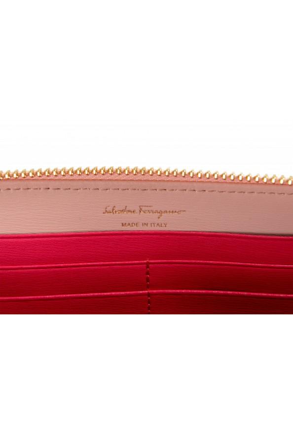 Salvatore Ferragamo Women's Dusty Pink 100% Leather Zip Around Wallet: Picture 5