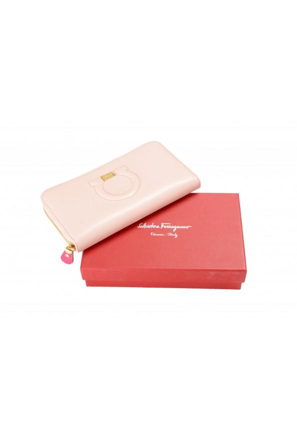 Salvatore Ferragamo Women's Dusty Pink 100% Leather Zip Around Wallet: Picture 6