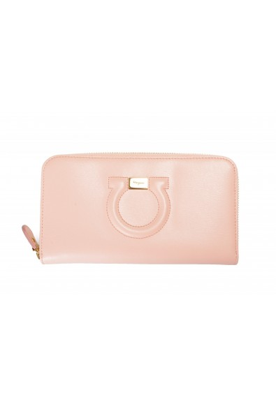 Salvatore Ferragamo Women's Dusty Pink 100% Leather Zip Around Wallet