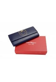 Salvatore Ferragamo Women's Blue 100% Textured Leather Wallet: Picture 6