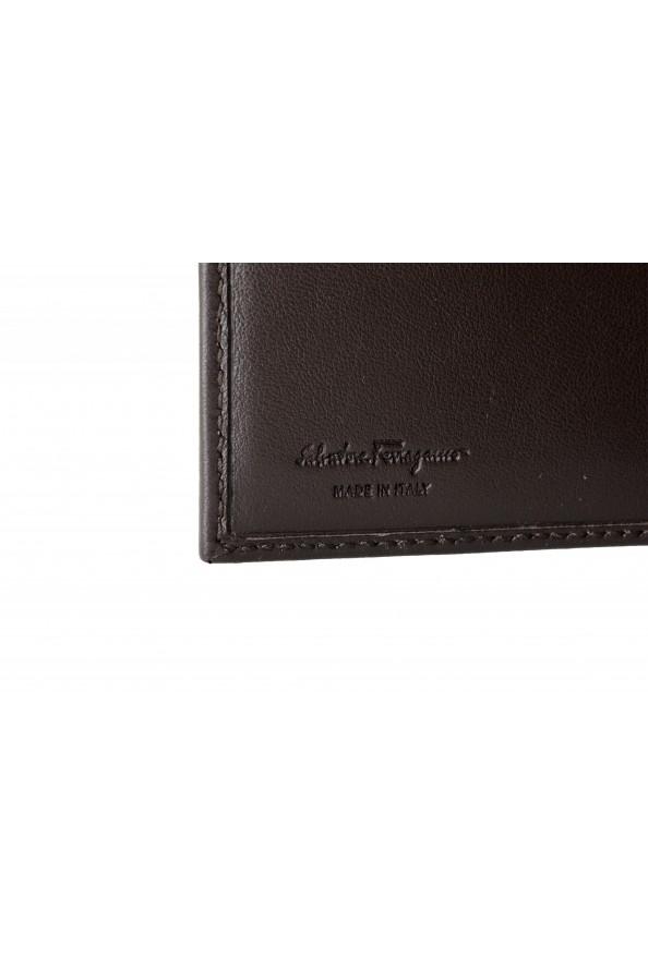 Salvatore Ferragamo Men's Dark Brown Logo Decorated 100% Leather Bifold Wallet: Picture 4