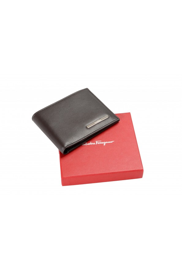 Salvatore Ferragamo Men's Dark Brown Logo Decorated 100% Leather Bifold Wallet: Picture 5