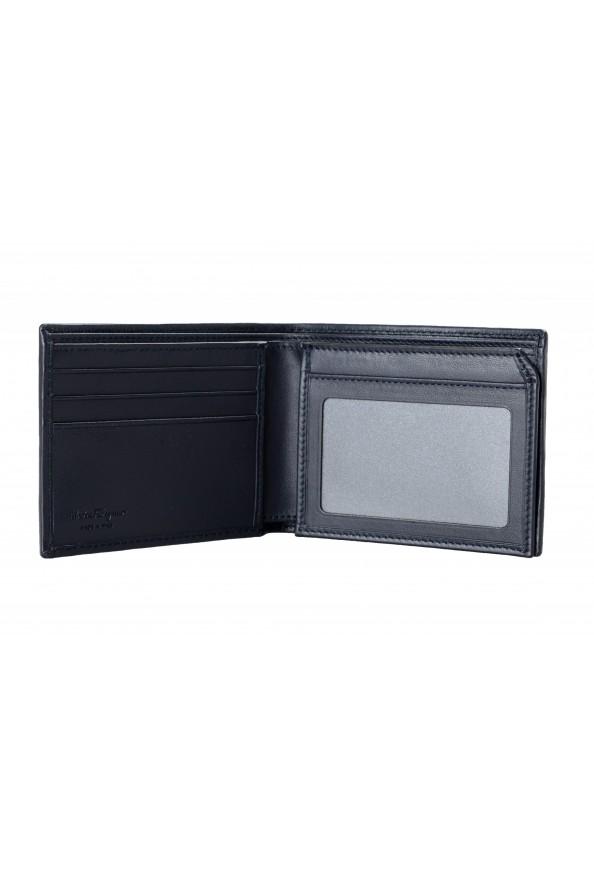Salvatore Ferragamo Men's Dark Blue Logo Decorated 100% Leather Bifold Wallet: Picture 2