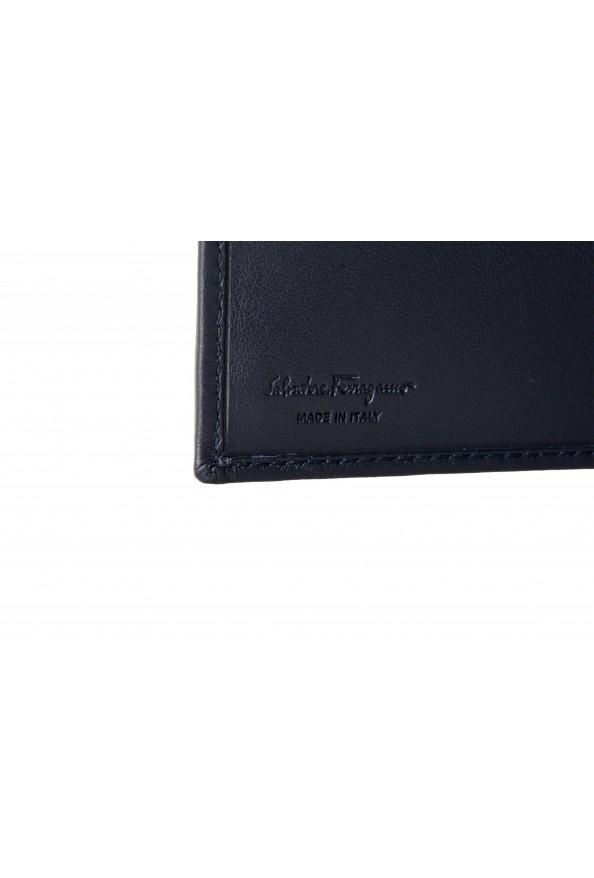 Salvatore Ferragamo Men's Dark Blue Logo Decorated 100% Leather Bifold Wallet: Picture 4