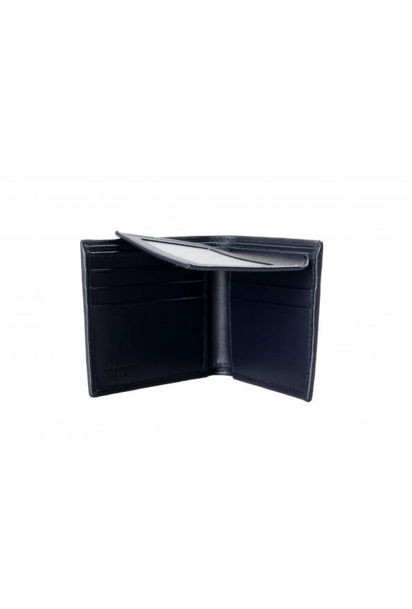 Salvatore Ferragamo Men's Dark Blue Logo Decorated 100% Leather Bifold Wallet: Picture 5