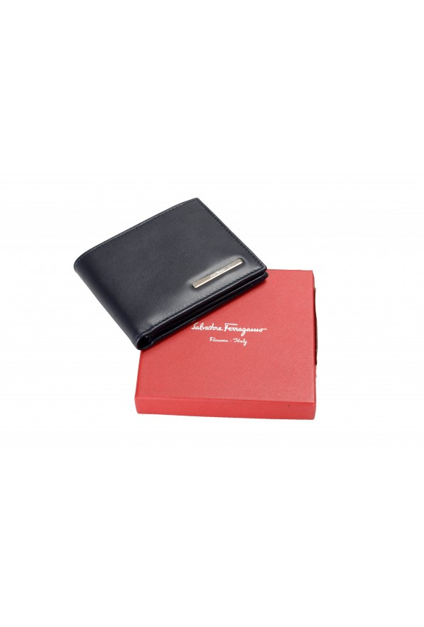 Salvatore Ferragamo Men's Dark Blue Logo Decorated 100% Leather Bifold Wallet: Picture 6
