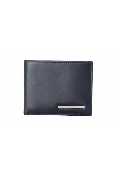 Salvatore Ferragamo Men's Dark Blue Logo Decorated 100% Leather Bifold Wallet
