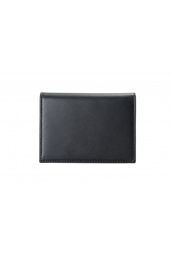 Salvatore Ferragamo Men's Black Logo Decorated 100% Leather Bifold Wallet: Picture 3