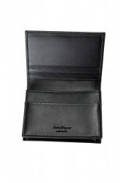 Salvatore Ferragamo Men's Black Logo Decorated 100% Leather Bifold Wallet: Picture 4