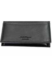 Salvatore Ferragamo Men's Black Logo Decorated 100% Leather Bifold Wallet: Picture 5