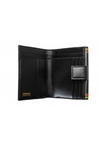 Versace Women's Black Logo Print Leather Bifold Wallet: Picture 2