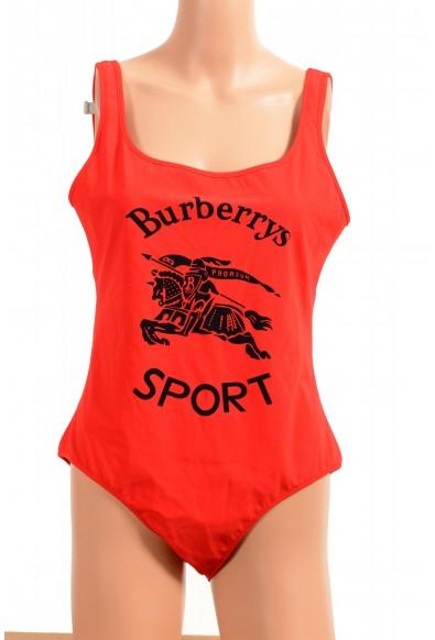 "Burberry Women's ""TOMO_J42"" Red Logo 1 Piece Swimsuit"