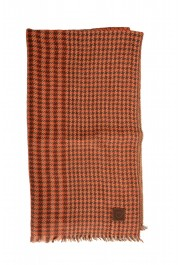 Salvatore Ferragamo Multi-Color Silk Wool Checkered Shawl Scarf