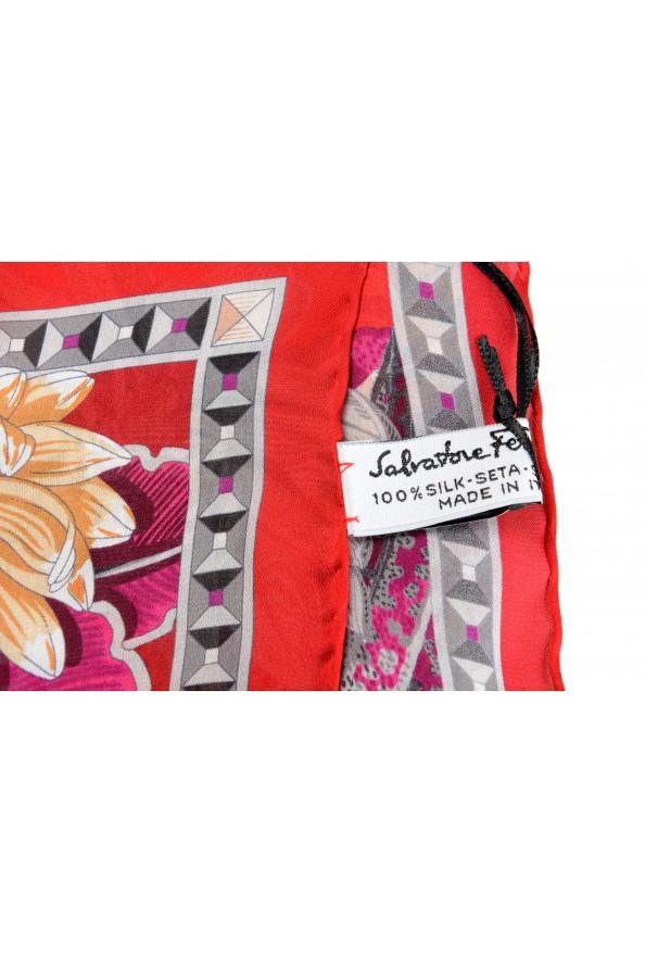 Salvatore Ferragamo Women's Multi-Color 100% Silk Shawl Scarf: Picture 3