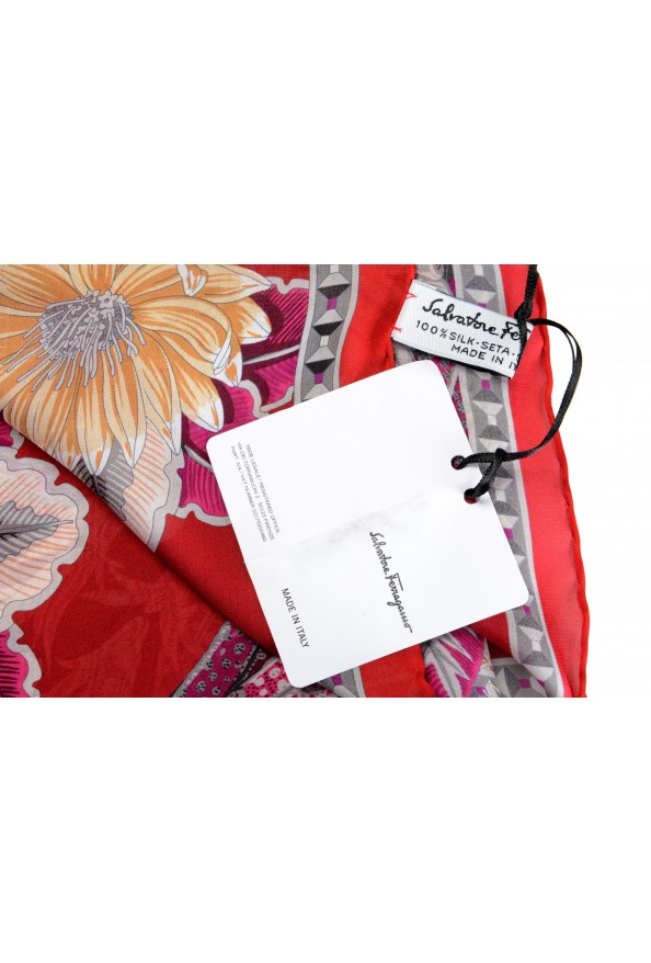 Salvatore Ferragamo Women's Multi-Color 100% Silk Shawl Scarf: Picture 4