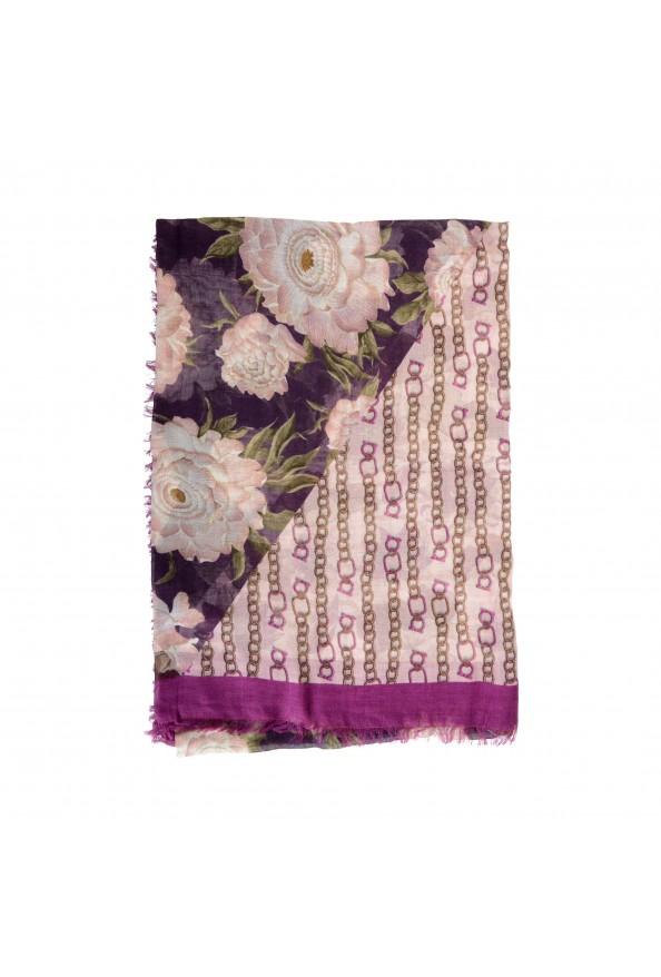 Salvatore Ferragamo Women's Multi-Color Wool Floral Print Shawl Scarf