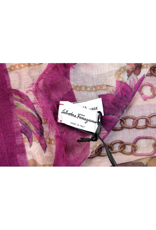 Salvatore Ferragamo Women's Multi-Color Wool Floral Print Shawl Scarf: Picture 3