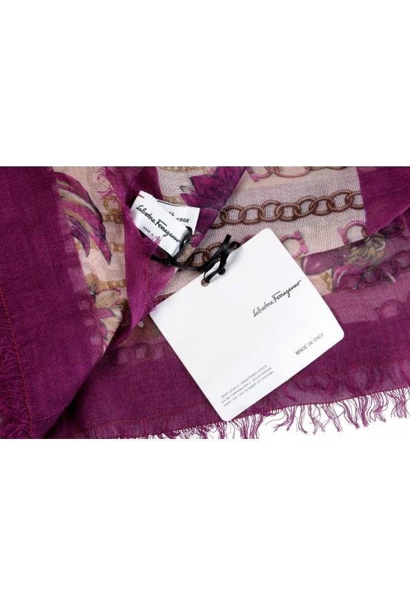 Salvatore Ferragamo Women's Multi-Color Wool Floral Print Shawl Scarf: Picture 4