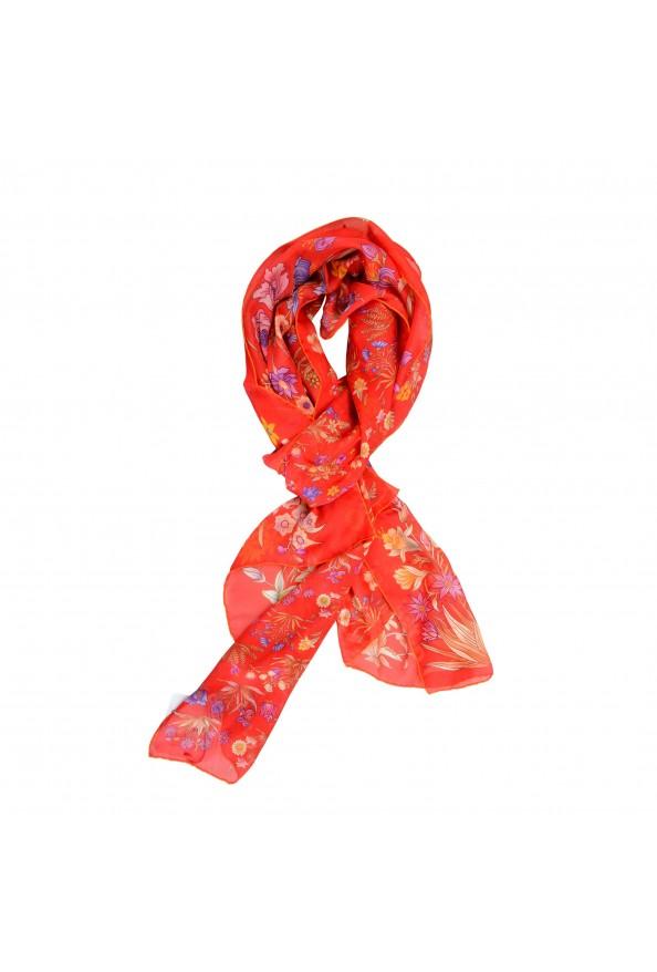 Salvatore Ferragamo Women's Multi-Color Floral Print 100% Silk Shawl Scarf