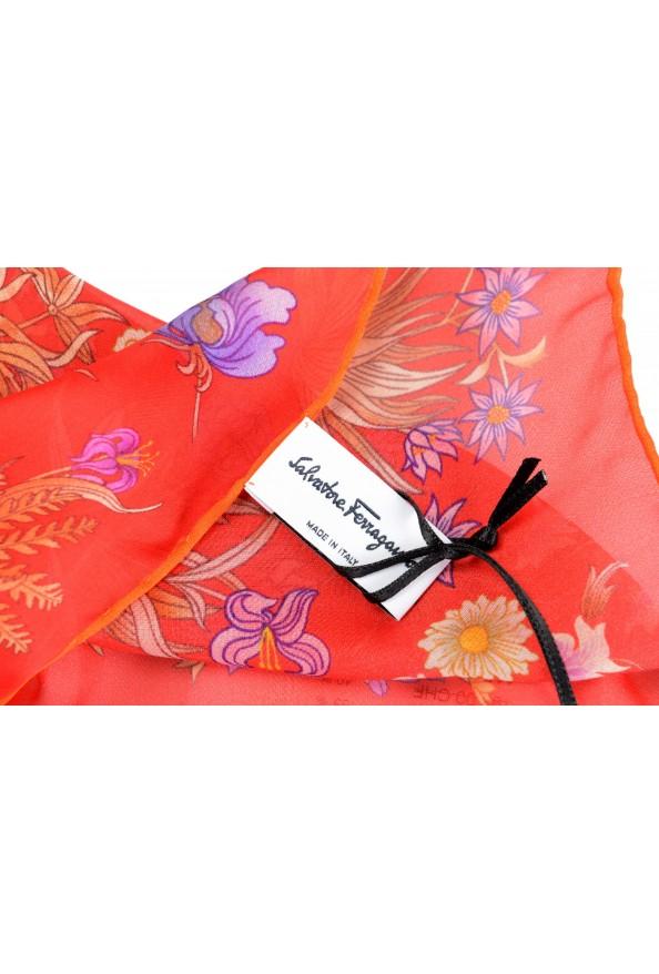 Salvatore Ferragamo Women's Multi-Color Floral Print 100% Silk Shawl Scarf: Picture 3