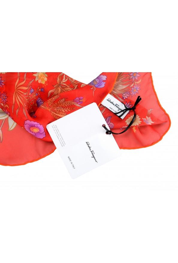 Salvatore Ferragamo Women's Multi-Color Floral Print 100% Silk Shawl Scarf: Picture 4