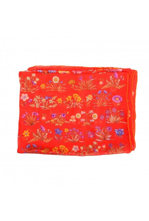 Salvatore Ferragamo Women's Multi-Color Floral Print 100% Silk Shawl Scarf: Picture 2