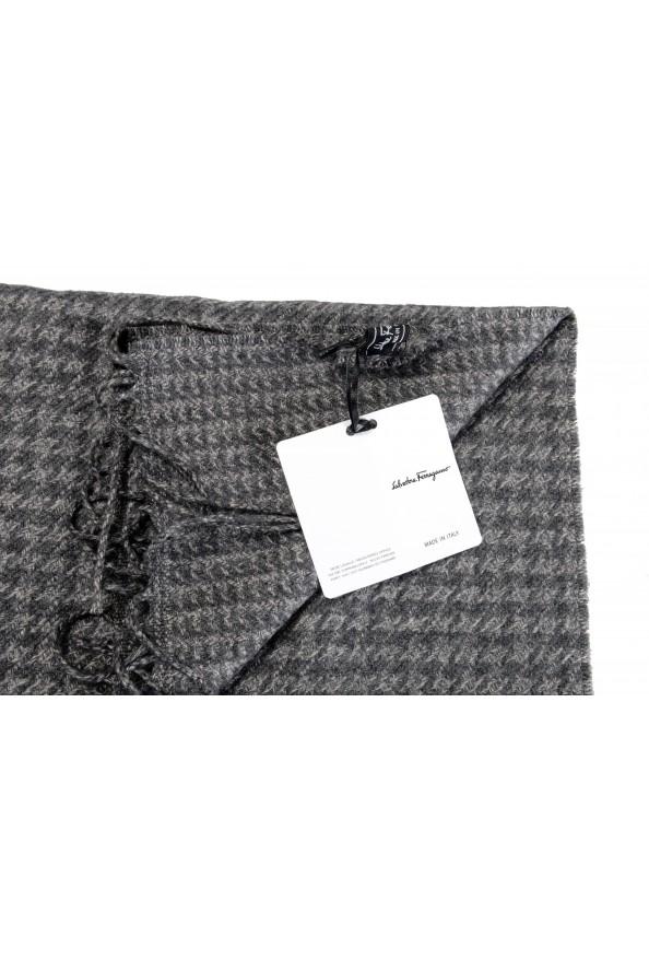 Salvatore Ferragamo Multi-Color Silk Wool Checkered Shawl Scarf: Picture 5